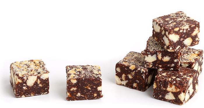Blokjes chocoladesalami