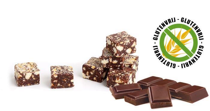 Glutenvrije chocoladesalami